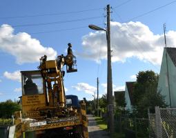 Замена уличных светильников в п. Мозарь