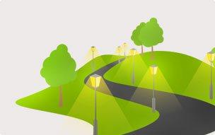 Уличное освещение территорий